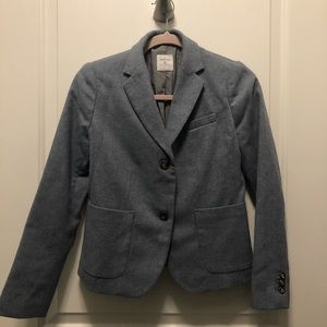 Gap The Academy Blazer Wool Gray 0P